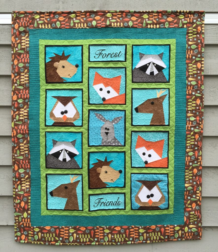 Quot Forest Friends Quot Paper Pieced Quilt And Table Runner