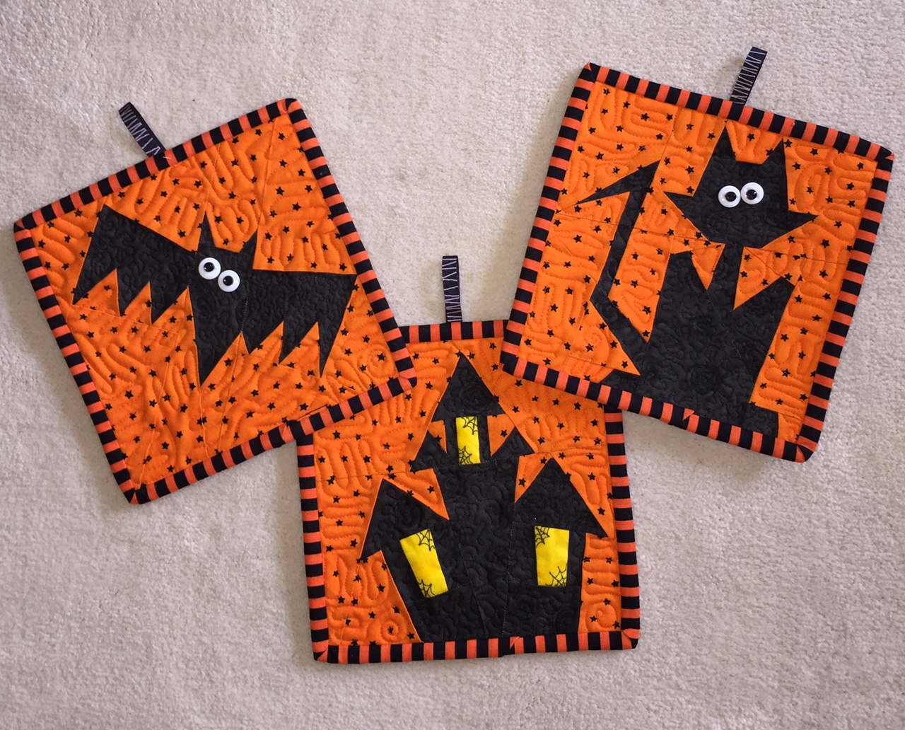 FREE Paper Pieced Halloween Block Patterns - Made By Marney