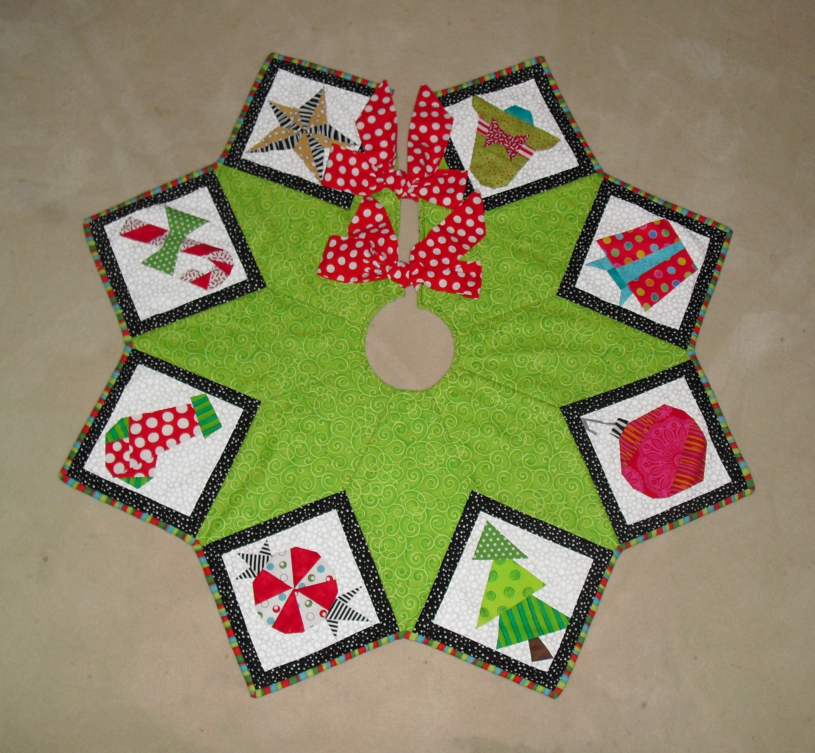Bungalow tree skirt alternate finishing cover made by marney